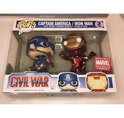 Железный Человек и Капитан Америка (Iron Man and Captain America 2-pack (Эксклюзив)) от Фанко