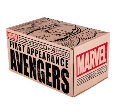 Первое появление Мстители набор Марвел (First Appearance Avengers box) из набора Collector Corps от Фанко и Марвел