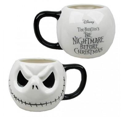Джек Скеллингтон кружка (Jack Skellington Head Mug) из мультика Кошмар перед Рождеством