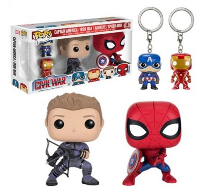 Captain America, Iron Man, Hawkeye, Spider-Man 4-pack из киноленты Captain America: Civil War Funko POP