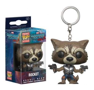 Реактивный Енот брелок (Rocket Raccoon Key Chain) из фильма Стражи Галактики. Часть 2