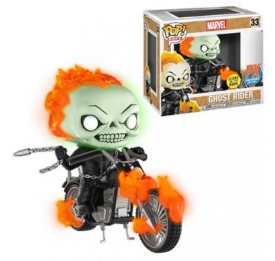 Призрачный гонщик на мотоцикле светящийся райд (Ghost Rider with Bike GitD ride (Эксклюзив)) из комикcов Марвел