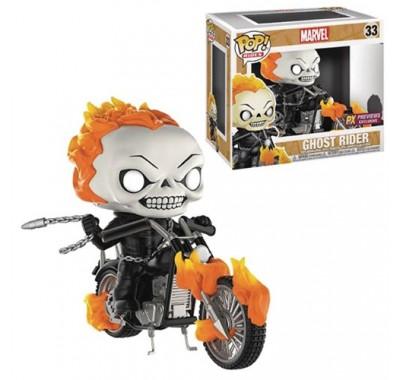 Призрачный гонщик на мотоцикле райд (Ghost Rider with Bike ride (Эксклюзив)) из комикcов Марвел
