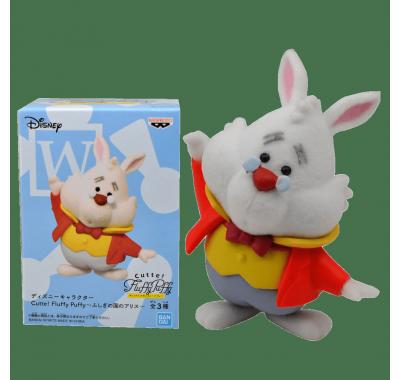 Белый Кролик флокированный (White Rabbit Cutte! Fluffy Puffy) (PREORDER QS) из мультика Алиса в Стране чудес