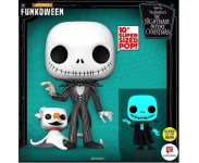 Jack Skellington with Zero 10-inch GitD (Экслюзив) (Preorder ZSS) из мультика Nightmare Before Christmas
