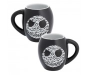 Jack Skellington Black Oval Ceramic Mug из мультика Nightmare Before Christmas
