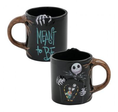 Джек и Салли кружка (Jack Skellington Jack and Sally Heat Reactive Ceramic Mug) из мультика Кошмар перед Рождеством