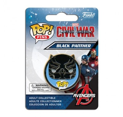 Чёрная Пантера значок (Black Panther Pin) из фильма Первый мститель: Противостояние
