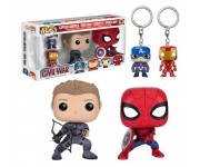 Captain America, Iron Man, Hawkeye, Spider-Man 4-pack из фильма Captain America: Civil War