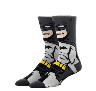 Бэтмен Тёмный рыцарь носки (Batman Dark Knight 360 Character Crew Socks) из комиксов ДС Комикс
