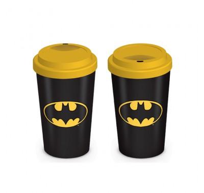 Дорожная кружка Бэтмен логотип (Batman Logo Travel Mug) из комиксов ДС Комикс