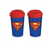 Superman Logo Travel Mug из комиксов DC Comics