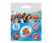 Super Hero Girls Badge Pack из комиксов DC Comics
