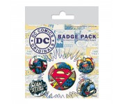Superman Comic Badge Pack из комиксов DC Comics