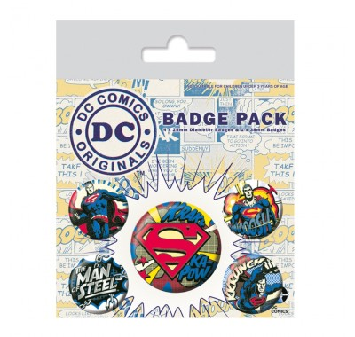 Набор значков Супермен комиксы (Superman Comic Badge Pack) из комиксов ДС Комикс
