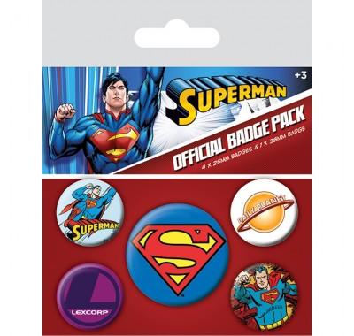 Набор значков Супермен (Superman Badge Pack) из комиксов ДС Комикс