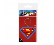Superman Shield Rubber Keychain из комиксов DC Comics