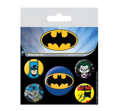 Набор значков Бэтмен (Batman Badge Pack) из комиксов ДС Комикс