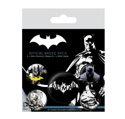 Набор значков Бэтмен темные (Batman Dark Badge Pack) из комиксов ДС Комикс