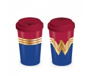 Wonder Women Logo Travel Mug из комиксов DC Comics
