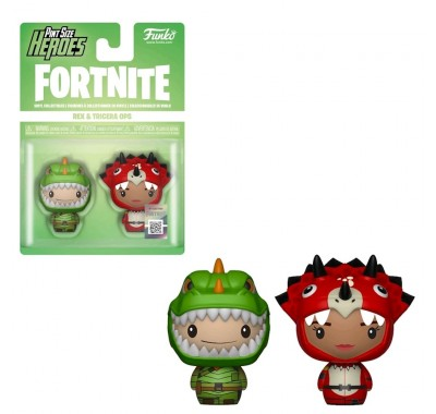 Рекс и Спецназ юрского периода пинт сайз (Rex and Tricera Ops Pint Size Hero 2-pack) из игры Фортнайт