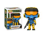 Spartan Mark VII with VK78 Commando Rifle Blue and Yellow из игры Halo Infinite