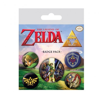 Набор значков Легенда о Зельде (The Legend Of Zelda Badge Pack) из игры Легенда о Зельде Нинтендо