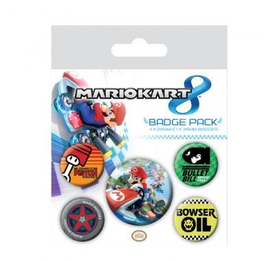 Набор значков Марио (Mario Badge Pack) из игры Марио Карт 8 Нинтендо