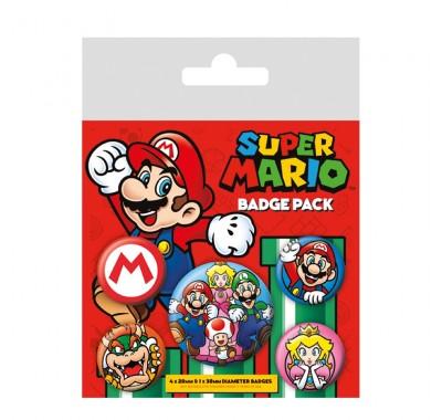 Набор значков Супер Марио (Super Mario Badge Pack) из игры Супер Марио Нинтендо