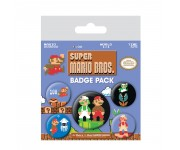 Mario Bros. Retro Badge Pack из игры Super Mario Bros. Nintendo