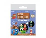 Mario Bros. Retro Badge Pack из игры Super Mario Bros. Nintendo