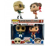 Captain Marvel Green vs Chun-Li Red 2-pack (Эксклюзив Hot Topic) из игры Marvel Vs Capcom