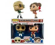 Captain Marvel Green vs Chun-Li Red 2-pack (Эксклюзив Hot Topic) из игры Marvel Vs Capcom