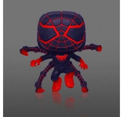 Майлз Моралес Костюм из Программируемой Материи в прыжке светящийся (Miles Morales Programmable Matter Suit Jumping GitD (Эксклюзив Gamestop)) из игры Человек-паук: Майлз Моралес