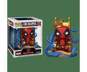 King Deadpool on Throne Metallic Deluxe (Эксклюзив Previews) из комиксов Deadpool 724