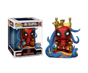 King Deadpool on Throne Metallic Deluxe со стикером (Эксклюзив Previews) из комиксов Deadpool 724