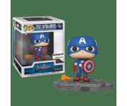 Captain America Avengers Assemble Diorama Deluxe со стикером (Эксклюзив Amazon) из фильма Avengers: Endgame