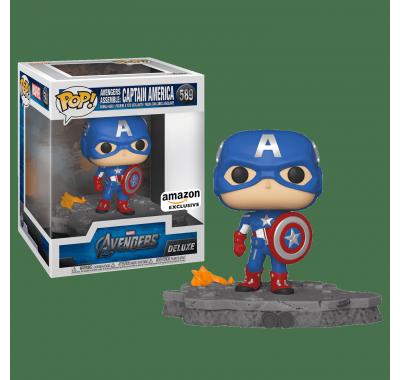 Капитан Америка Диорама Мстители со стикером (Captain America Avengers Assemble Diorama Deluxe (Эксклюзив Amazon)) из фильма Мстители: Финал