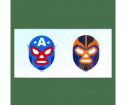 El Terror Thanos and El Leyenda Americana Captain America Stickers из комиксов Marvel: Lucha Libre Edition