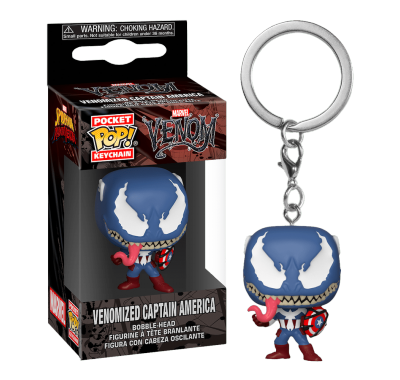 Веномизированный Капитан Америка брелок (Venomized Captain America keychain) из комиксов Марвел