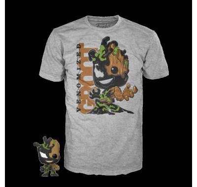 Фигурка и футболка Веномизированный Грут (Venomized Groot Pop and Tee (Размер M)) из комиксов Марвел
