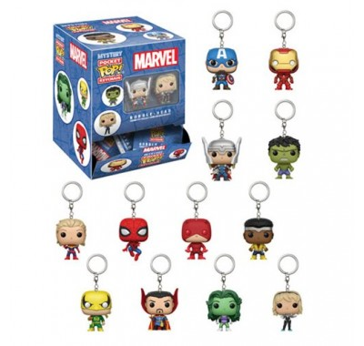 Марвел брелок закрытый (Marvel blindbags Keychain) из комиксов Марвел