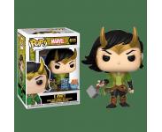 Loki Holding Mjolnir со стикером Free Comic Book Day 2020 (Эксклюзив Previews) из комиксов Marvel