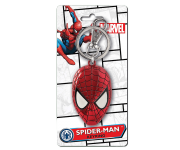 Spider-Man Head Colored Pewter Keychain Monogram из комиксов Marvel