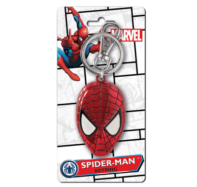 Маска Человека-паука брелок (Spider-Man Head Colored Pewter Keychain) из комиксов Марвел