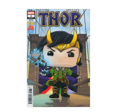 Комикс Тор #1 Локи (Thor #1 Loki Funko Pop Variant Cover Art Comic Book) из комиксов Марвел
