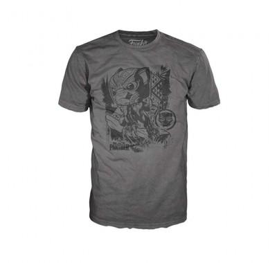 Черная пантера серая футболка (Black Panther Jungle Gray T-Shirt (размер S)) из комиксов Марвел