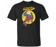 Spider-Man Spotlight Black T-Shirt (размер S) из комиксов Marvel