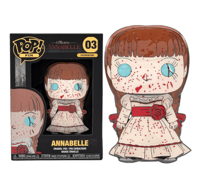 Аннабель значок 10 см (Annabelle 4-inch Enamel Pin) из фильма Проклятие Аннабель