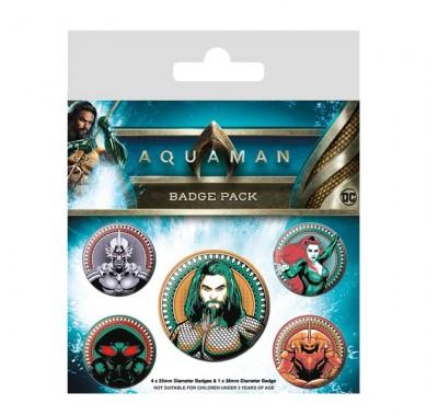 Набор значков Аквамен (Aquaman Badge Pack) из фильма Аквамен